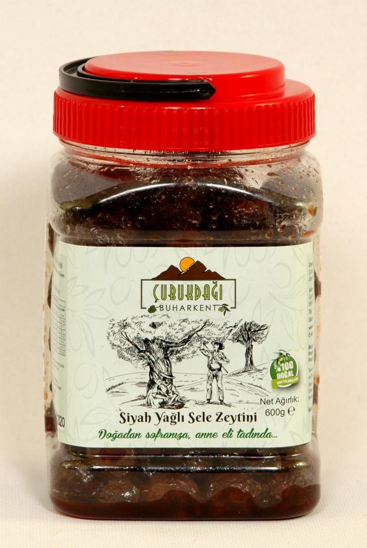 Doğal Fermente Siyah Yağlı Sele Zeytini
