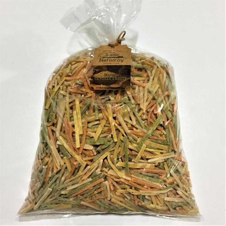 NefisKöy Doğal Katkısız Erişte Sebzeli El Yapımı 1 kg