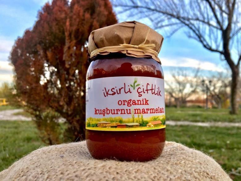 Organik Kuşburnu Marmelatı (Sadece Meyve Püresi ile) 190 gr.